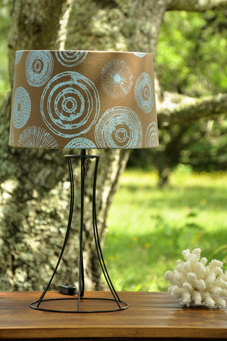 Style shades lamps decor port elizabeth bedrooms for a different look we have a wire frame lamp base with a 300 semi drum lamp shade greentooth Gallery